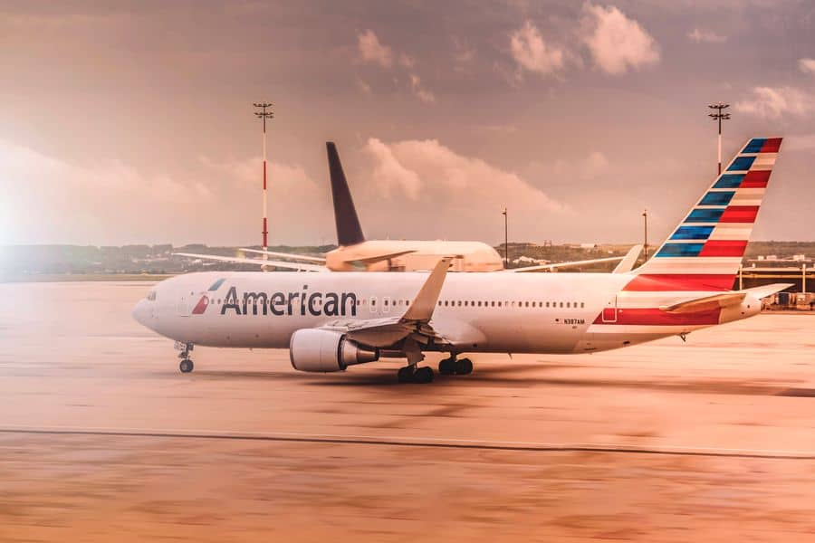 American airline on a tarmac